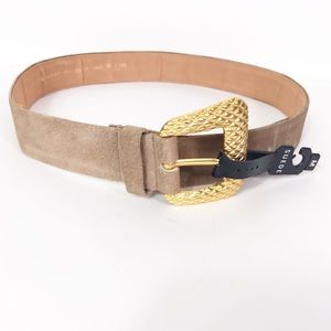 Vintage Morgan Taylor Tan Suede Leather Belt Sz M